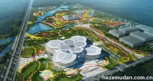 菏泽国花博览园国花交易中心开工建设
