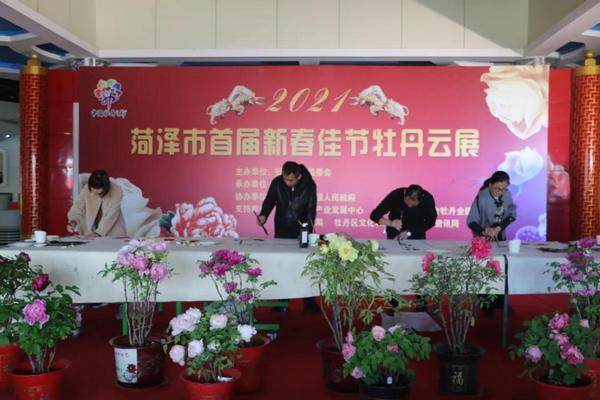 菏泽市首届新春佳节牡丹云展在牡丹区黄堽镇国花牡丹园启动